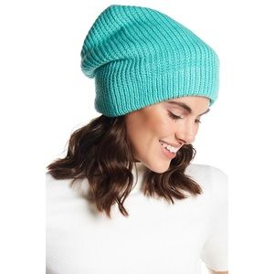 Free People Everyday Slouchy Beanie Blue Turquoise